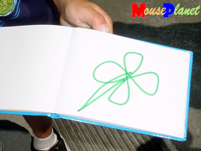 PHOTO: Lucky's signature is a four-leaf clover.