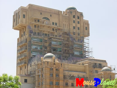 PHOTO: Work continues on the Tower of Terror, and more exterior details are visible.