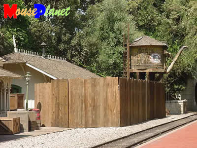 PHOTO: Disneyland Railroad train.