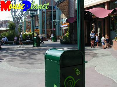 PHOTO: A trash can in Downtown Disney.