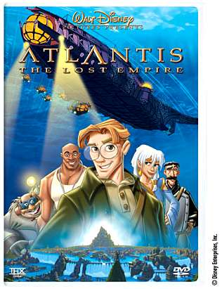 Atlantis DVD cover - Promotional art � Disney