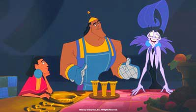 Emperor's New Groove advertising art � Disney