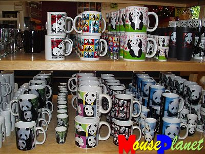 San Diego Zoo Baby Panda Exhibit: The Panda Shop also carries mugs and shot glasses with a variety of designs. Photo by Lisa Perkis, copyright MousePlanet.
