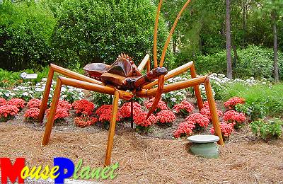One of the bug sculptures in Future World
