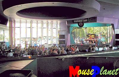 The seating area in the Starlight Cafe with Sonny in the background.