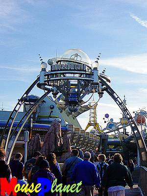 The Tomorrowland entryway. (Photo by Steve Railing.)
