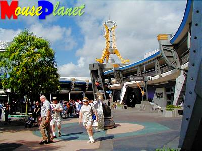 An older view of Tomorrowland, looking toward the Convention Center.