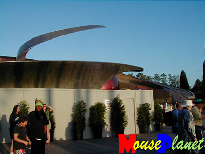 Mission:Space facade work
