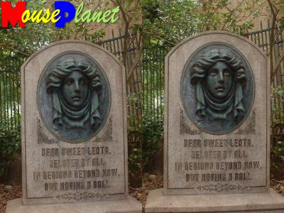 PHOTO: Tombstone at the Haunted Mansion.