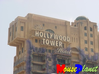 Tower of Terror now has its exterior sign.