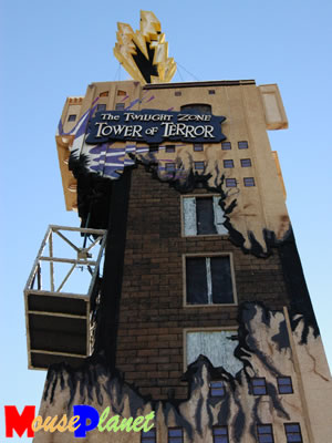 At 106 feet tall, the Tower of Terror float is over half the size of the actual ride. Photo by Adrienne Vincent-Phoenix, copyright MousePlanet.