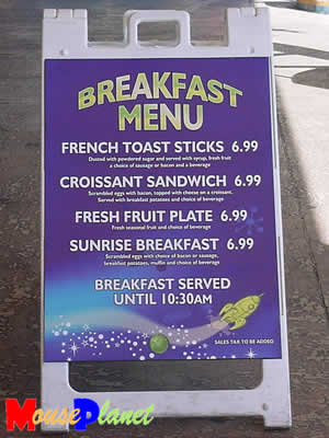PHOTO: Breakfast is served until 10:30 a.m., but only on weekends.