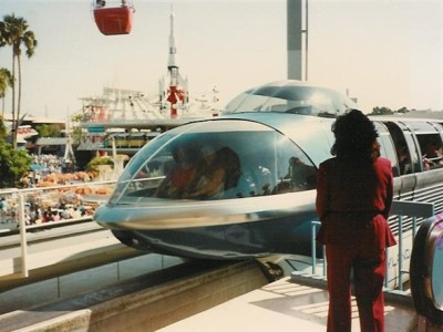 The Mark III monorail in Tomorrowland. Photo by George McGinnis.