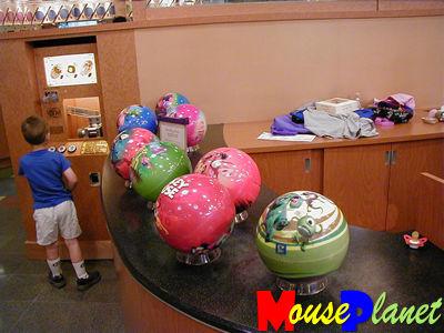 Character bowling balls at Pop Century